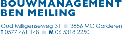 Bouwmanagement Ben Meiling Contactinformatie