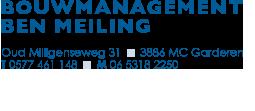 Bouwmanagement Ben Meiling Contactinformatie